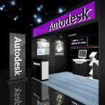 Autodesk分展区展台效果图
